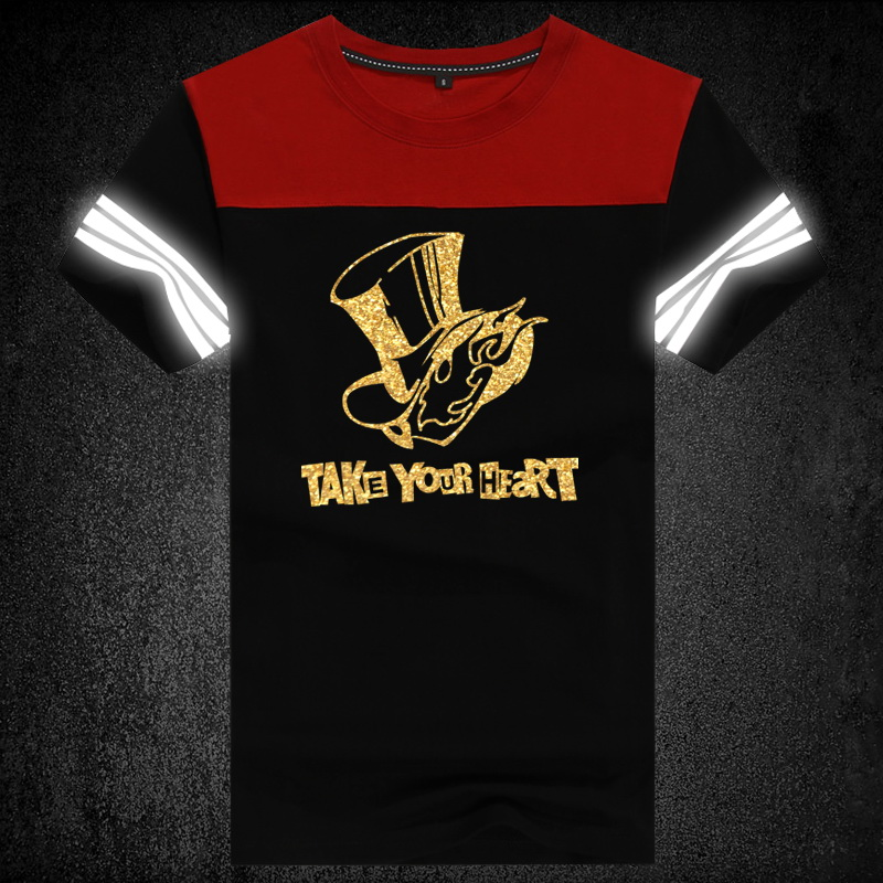 High-Q Unisex Anime Game Cos Persona 5 P5 Reflective Cotton Casual T-Shirt Tee T Shirt Top