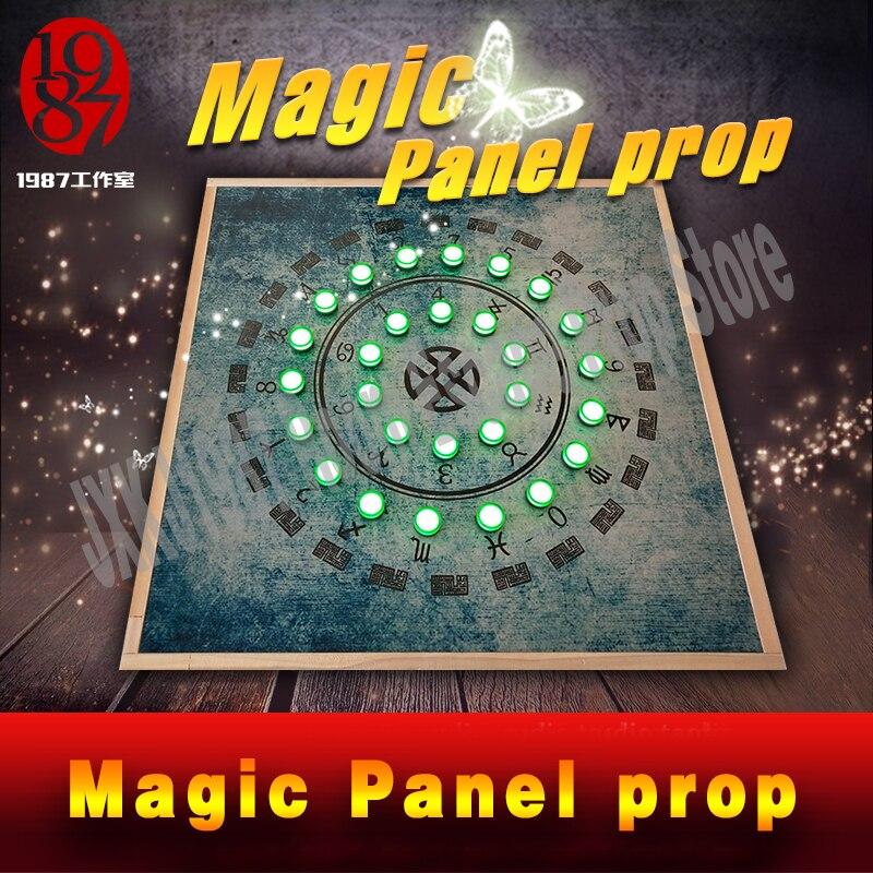 Room escape prop pour aventurier jeu Magique Prop Panneau obtenir un cachée mot de passe via éclairage qui le concerne indicateur lampes