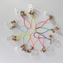 20pcs Mix Style Cute Shaped corked glass bottle +20pcs Random Lobster clasp wishing vials sealed small Pendant