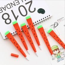 2pcs/lot Watermelon Gel Ink pen cartoon School students office supplies Children like the  gift kawaii  Reward material gel pen недорого