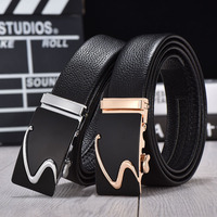 Automatic Buckle Pure Leather Belt Men Designer Belts Men High Quality Strap Genuine Leather Wide Male
