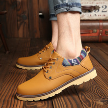 hot deal buy martin boots 2018 autumn new men's business casual shoes waterproof non-slip shoes low shoes men's shoes