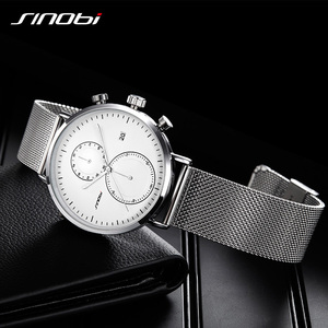 Image 5 - SINOBI 2020 New Multifunction Men Watch Fashion DIY Luminous Quartz Watch For Men Male Casual Sport Chronograph Stop Watch Clock