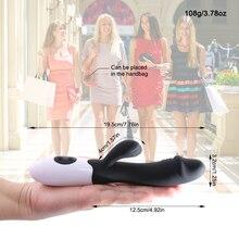 G Spot Rabbit Dual Dildo Vibrator Clitoris Stimulation For Woman
