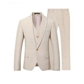 New Men Suit 3 Pieces Prom Party Suits Wedding Tuxedo Latest Designs Slim Fit Casual Fashion Wedding Suits (jacket+pant+vest)