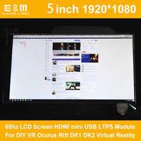 E & M 5 zoll IPS 1920*1080 60 hz LCD Screen HDMI LTPS Modul Für DIY VR Oculus rift DK1 DK2 Virtuelle Realität Monitor Display