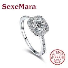 Garnet Women 925 Sterling Silver Jewelry Rhinestone Filled Promise Rings Bijoux Femme JZ49 anel feminino anillos mujer claddag