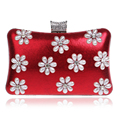 Mix 5 Colors Messenger Shoulder Chain Bags Flower Pearl Evening  Bags Metal Day Clutches Purse Evening Bag/Handbags