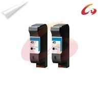 2 Pcs For HP 45 Ink Cartridge 51645A For HP Deskjet 8200 850C 870C 880 890