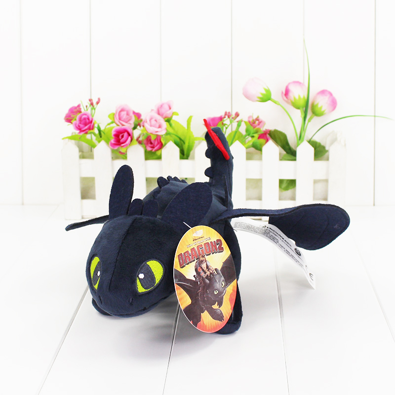 1 Unids 23 cm Cómo entrenar a tu dragón Toothless Dragon Plush Night Fury Stuffed Soft Dolls Toys Grandes regalos 2 estilos seleccionables