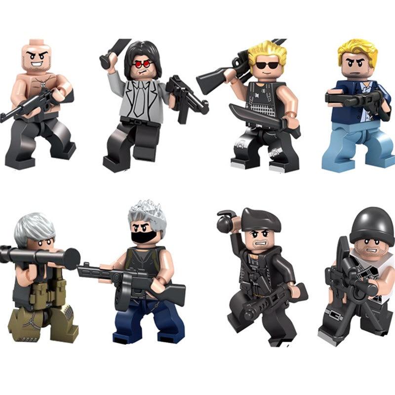 цена на Custom Military Building Bricks Army Troops, Blocks Mini Men Set, SWAT, Special Force, Police, DIY Build Character Toys for Kids