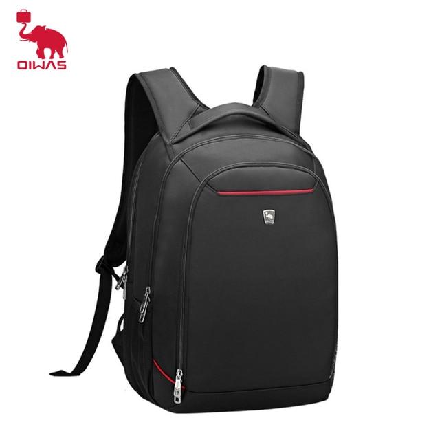 a9890a156a39 OIWAS Водонепроницаемый нейлон Для мужчин Рюкзаки 15.6 дюймов модные  Тетрадь Бизнес Повседневное Ноутбук Рюкзак Anti-
