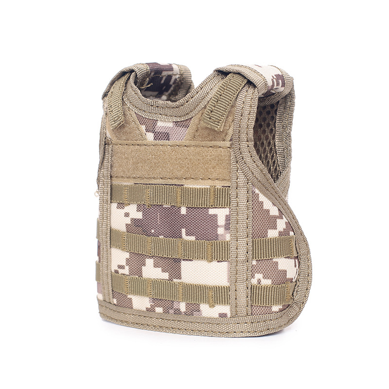 Camping & Hiking Independent Tactical Beer Military Molle Vest Mini Miniature Wine Bottle Cover Vest Beverage Cooler Adjustable Shoulder Straps Sports & Entertainment