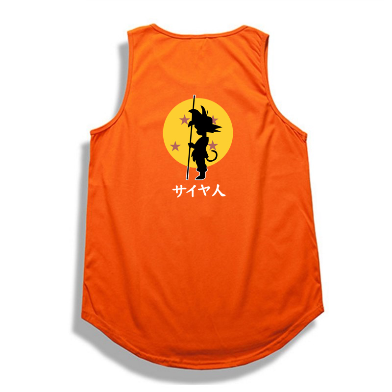 Hip hop Dragon Ball   tank     top   Summer bodybuilding   Tops   shirt Casual Cotton dragon ball z Wukong   top     tank   clothes