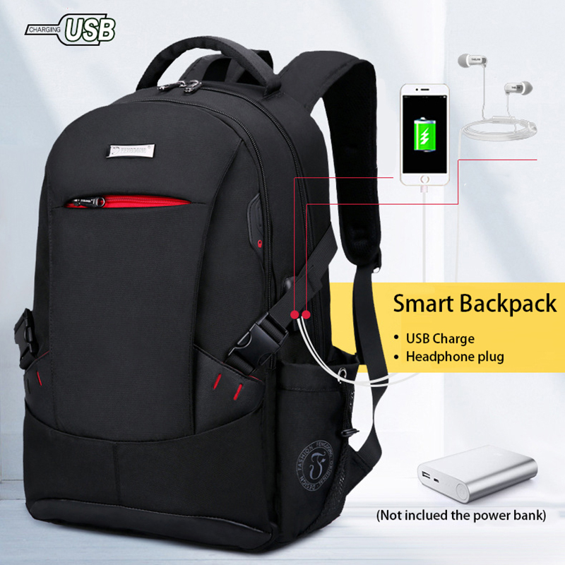 Men Backpack Rucksacks Laptop Shoulder-Bag Travel Busine Large-Capacity Antitheft Fashion