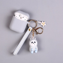 High Quality New 2019  Cartoon Brown Bear Keychain Cute Dinosaur Frog Pig Doll Keyrings Kids Toy Key Chain for Women