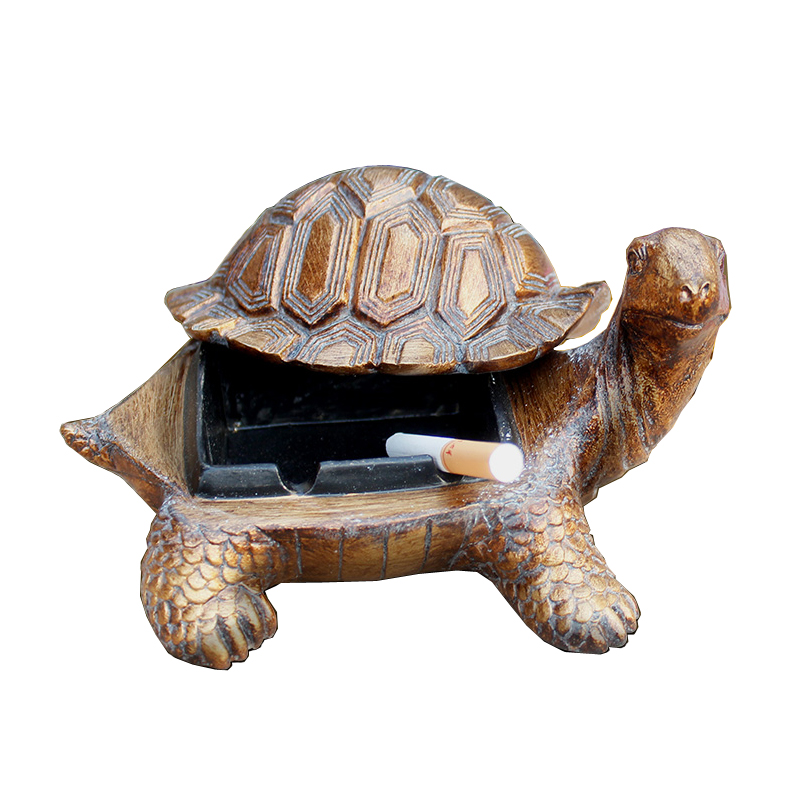 Resin Continental Cigar Turtle Ashtray Creative Living Room Personalized  Decoration Luxury Vintage Coffee Table Bar Desktop  In Ashtrays From Home U0026  Garden ...