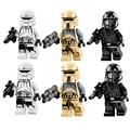 6 Unids Star Wars Rogue Uno Imperial Shoretropper Muerte Aerotanque Trooper Piloto Lepin Figuras Building Blocks Juguetes de Los Ladrillos