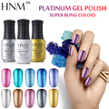 HNM Super Bling Colors UV Gel Nail Polish 8ML Long Last Gel Polish Platinum Gel Lak Gel Varnish Gelpolish Vernis Semi Permanent