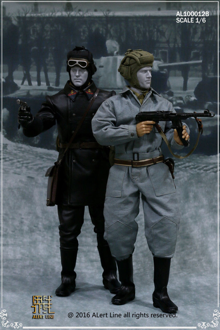 WWII The Soviet Tank Corps Suit With Pistol Cup Accessories Model 1/6 Soldier Costume Clothing Sets 1 30 wwii german mechanized forces captured the urban combat scenarios alloy model suits the scene fm