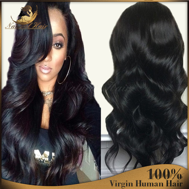 7a Full Lace Human Hair Wigs Glueless Full Lace Wigs Peruvian Loose Wave Virgin Hair Lace Front Human Hair Wigs