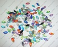 200pcs x 5*10mm Mixed Colors Marquise Shape Shining Resin Glitter Gem Stones for Nail Art Decoration-Free Shipping