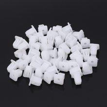 50 шт белый квадратный автомобильный корпус пластиковый штифт