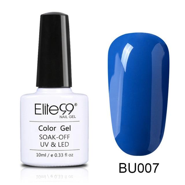 Elite99 10 ml Blau Farbe Serie Nagellack Langlebig Gel Lack Gehärtet Mit UV LED Lampe Wunderschöne Nail art design Nagel Lack