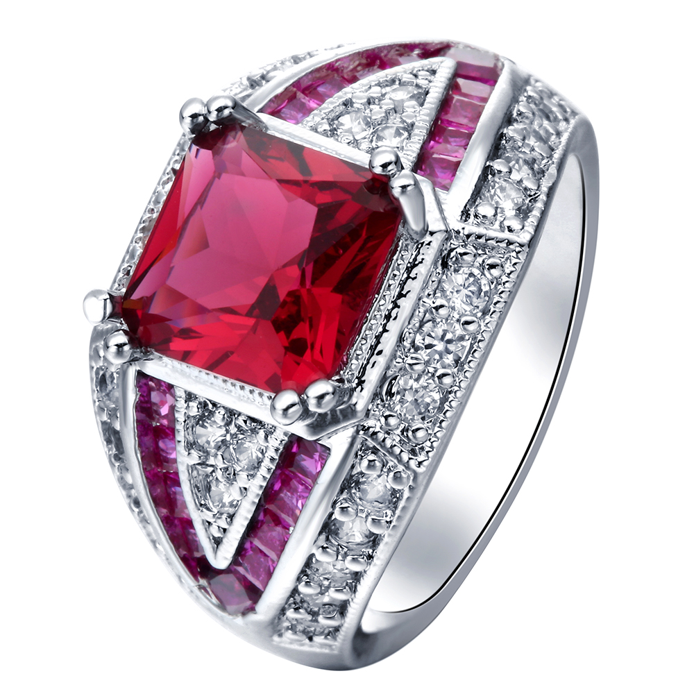 corundum rings en stone wings ring with