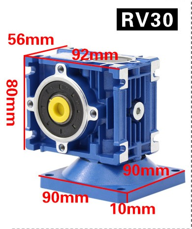 90W worm gear motor RV30 single-phase 220v AC speed motor torque positive and negative electric motor