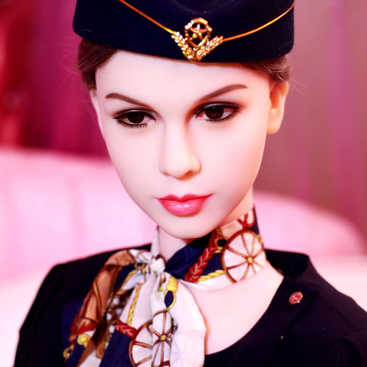 165cm uniform air hostess sex doll realistic full size tpe silicone sex dolls lifelike adult sexy real love doll for men