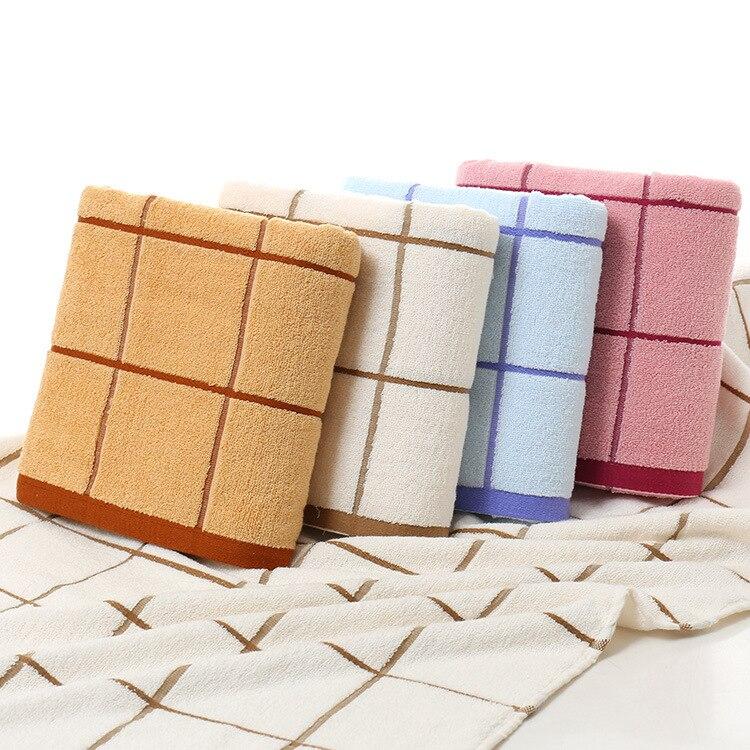 SMAVIA Household Simple Soft Bath Towel Beach Bathing Body Dry Towel 70*140 cm Towel Water Absorption Grid Towel 1 Piece 4 Color