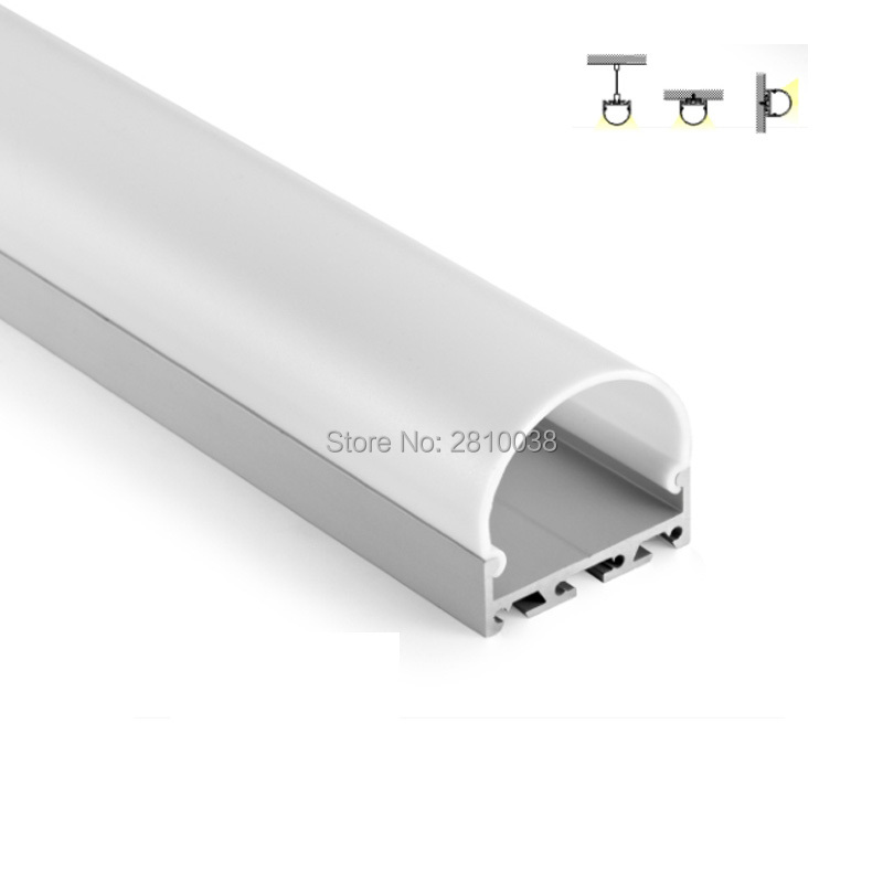 100 X 2M Sets/Lot Semiround shape aluminum profile for led stripes Arch type aluminium led extrusion for suspension light