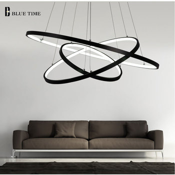 Modern LED Pendant Lamp Plafond LED Pendant Lights Circle Rings For Living room Dining room Bedroom Hanging lamp Light Fixtures creative modern round led pendant lights adjustable height hanging lamp dining room restaurant living room pendant lamp fixtures