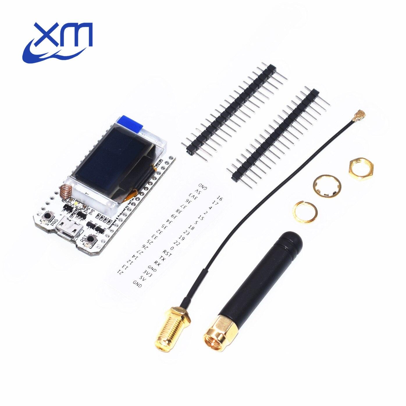 SX1276 ESP32 LoRa 868 MHz/915 MHz 0.96 pouces bleu OLED affichage Bluetooth WIFI Kit 32 carte de développement 10 pcs/lot H83