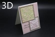 3D Embossing Folder DIY Cutting Dies Scrapbooking High Quality Plastic for Photo Album Paper Craft