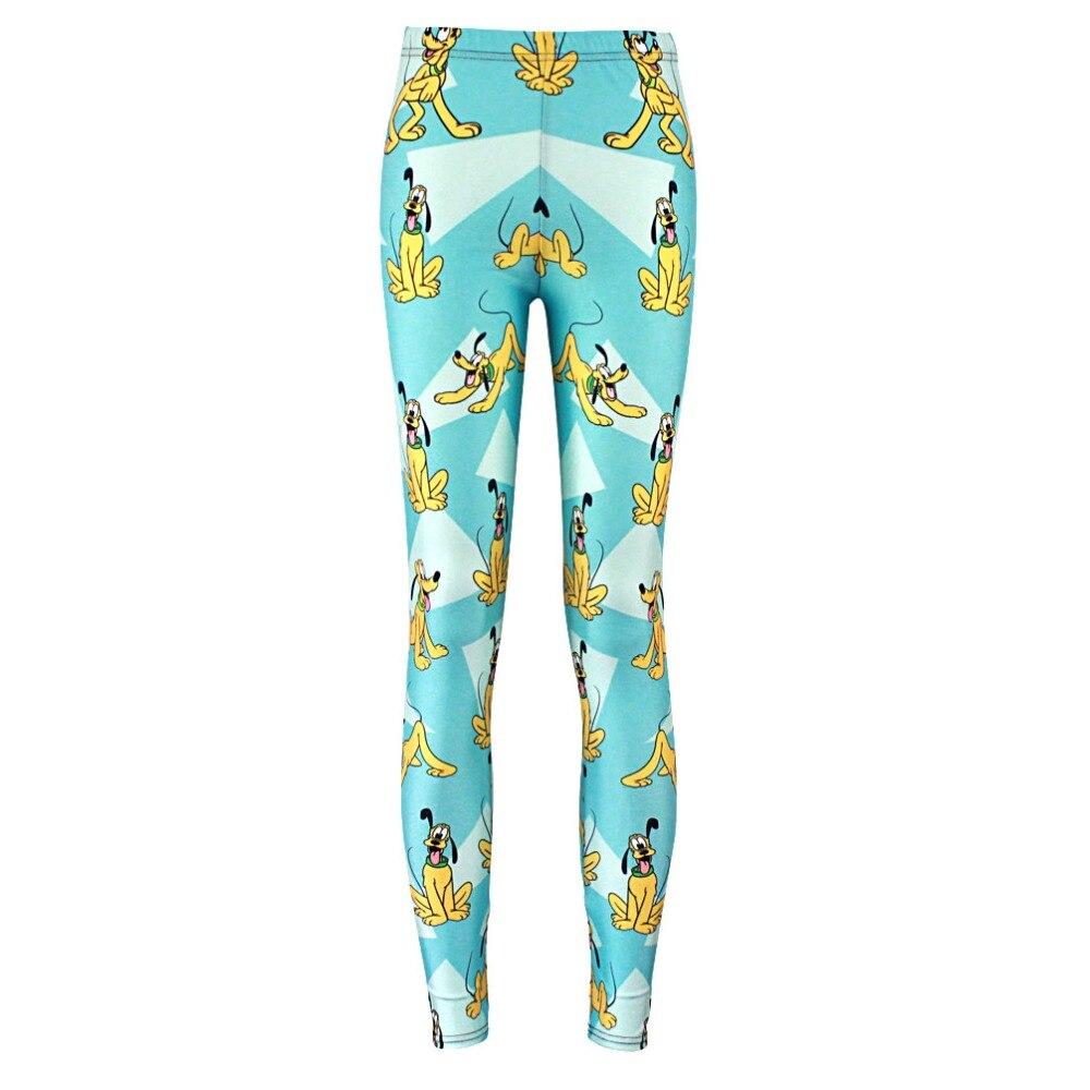 Elastic Casual Pants 3D Digital Printing Cartoon Rhubarb Dog Pattern Women Leggings 7 Sizes Fitness Clothing Free Shipping