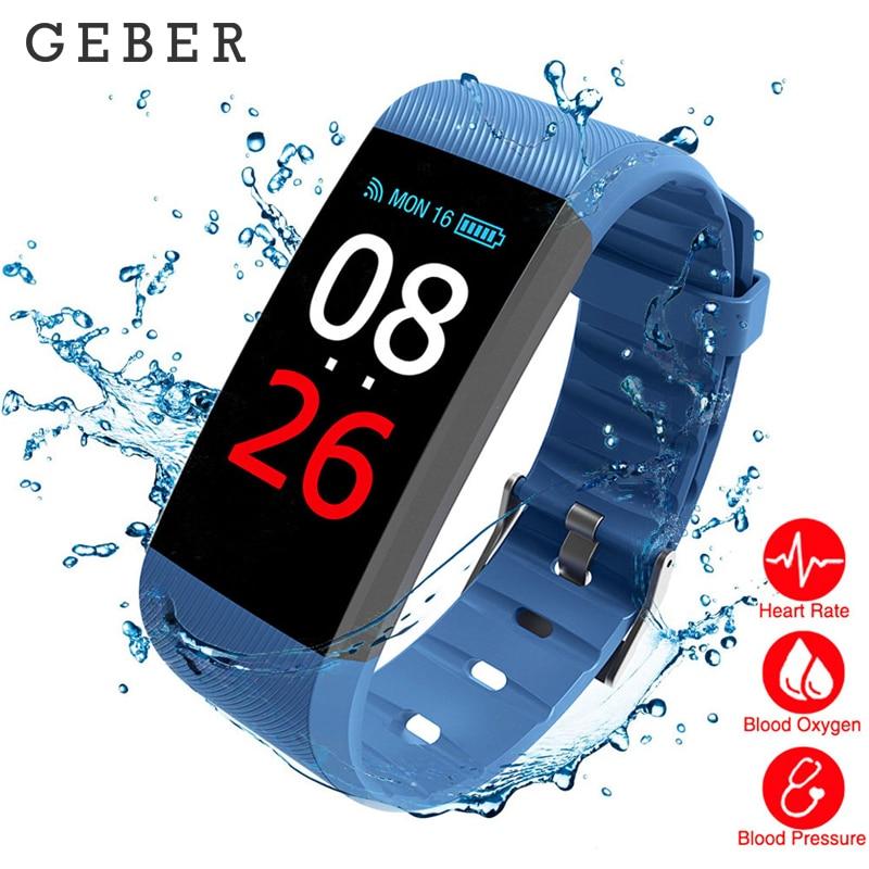 все цены на GEBER R11 Fitness Tracker Smart wristband Heart Rate/blood pressure/ Blood Oxygen Monitor smart Bracelet smart watch tezer онлайн