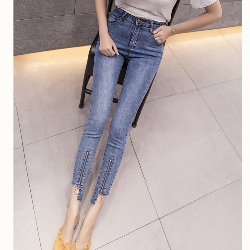 JUJULAND  Jeans Female Denim Pants Black Color Womens Jeans Donna Stretch Bottoms Skinny Pants For Women Trousers 1813