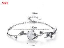 Plum Blossom Flower Ladies Sterling Silver Bracelets Jewelry