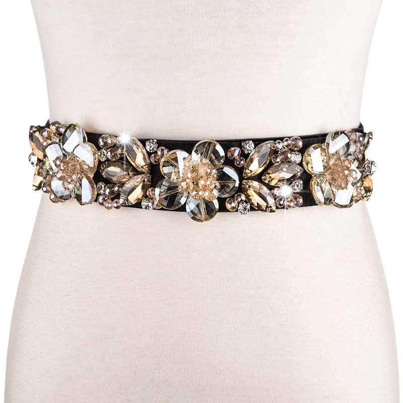 Elastic Belts For Women Female Wedding Dress Waist Belt Floral Corset Belt