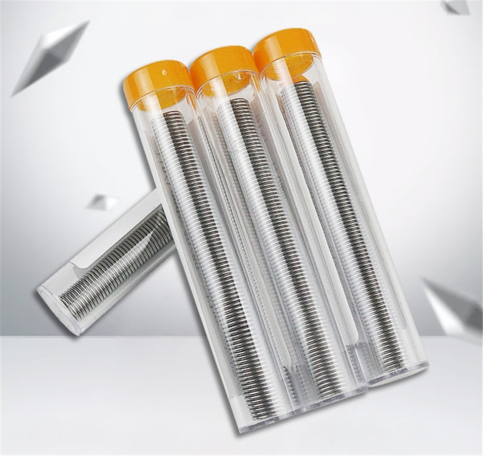 3pcs 1.0mm 40/60 Tin/Resin Flux Rosin Core <font><b>Solder</b></font> Soldering Wire & Pen Tube Dispenser Tin Lead Core Soldering Wire Tool No wash image