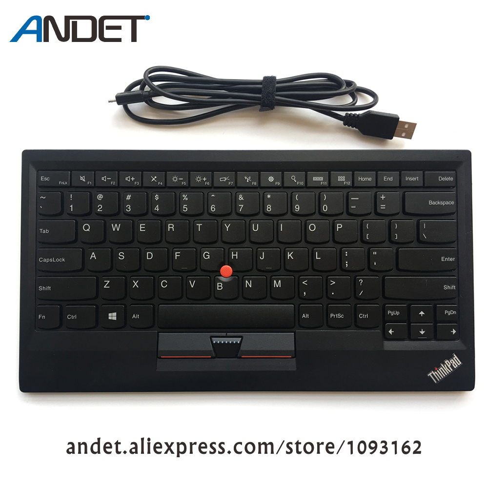 Genuine Original Lenovo ThinkPad Compact Bluetooth Wireless US Keyboard 0B47189 with USB Charge Trackpoint for Tablet PC Laptop купить в Москве 2019