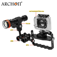ARCHON hot sale 100m Waterproof Underwater 1300 lumem Diving Light Classic match Diving torch kit For GoPro Hero 5 4 3