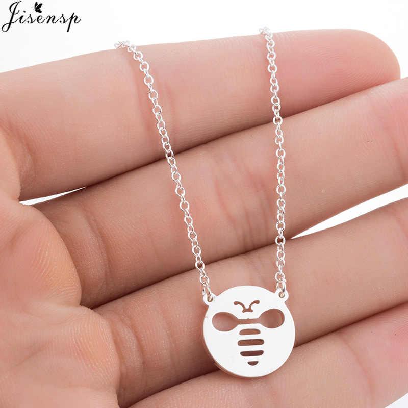 Jisensp nowy urok modne naszyjniki dla kobiet dziewczyna śliczny Tiny Bee wisiorek z motywem zwierzęcym Choker naszyjnik biżuteria na imprezę bal prezent