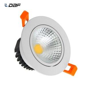 [DBF] светодиодный потолочный светильник с регулируемой яркостью COB светодиодный светильник 6 Вт, 9 Вт, 12 Вт, 15 Вт, светодиодный прожектор холод...