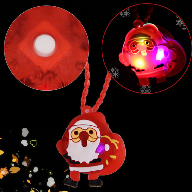 hiinst christmas led light toys 2019 plastic lighted necklace kids family adults party favors 35cm xmas - Lighted Christmas Necklace