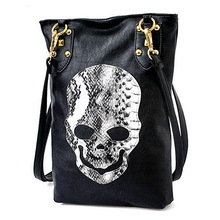 Gothic Steampunk Women's Faux Leather Skull Messenger Handbag Shoulder Bag Totes Purse For Party