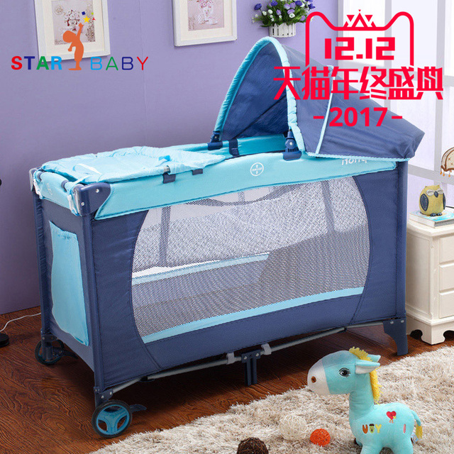 US $172 13 25% OFF European Foldable Portable Crib Multifunction game Bed  Belt Mosquito Net Cradle Bed Baby Bed Travel bed-in Baby Cribs from Mother  &