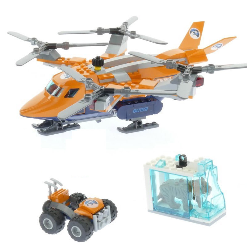LEPIN City 02109 Arctic Air Transport Compatible Legoing 60193 City
